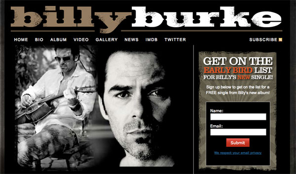 Billy Burke Website